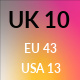 UK 10 / US 13 / EU 43