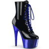 Black Patent / Royal Blue Chrome