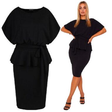 Sash plum Dress - Black