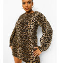 Leopard Collar Shift Dress