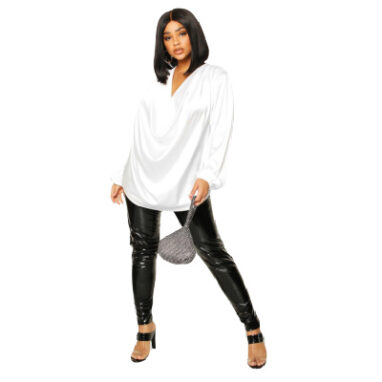 Ivory satin blouse